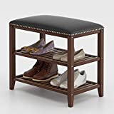 SeiriOne Shoe Rack Bench, 3-Tier Bamboo Shoe Storage Organizer, Ideal for Entryway, Living Room and Corridor, 23.5'' L x 11.41'' W x 20'' H