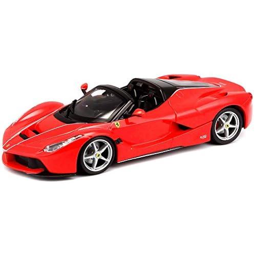 Bburago- Ferrari Aperta-1:24, Colore Rosso/Nero, 18-26022