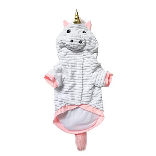 Balacoo, Costume da Unicorno per Cani e Gatti, con Cappuccio per Halloween, Cosplay