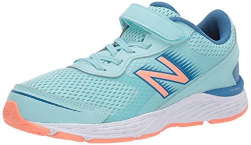 New Balance Kid's 680 V6 Hook and Loop Running Shoe, Bali Blue/Mako Blue/Ginger Pink, 9 M US Toddler (1-4 Years)