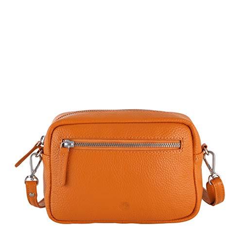 Sattlers & Co. Umhängetasche The Spanish Nabou | Umhängetasche für Damen | Damen Umhängetasche aus echtem Leder (orange)