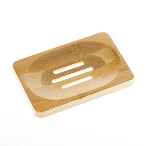 Aira Bamboo Soap Dish. Soap Holder for Shower, Counter, Sink, Bathroom. Soap Lift & Soap Saver.