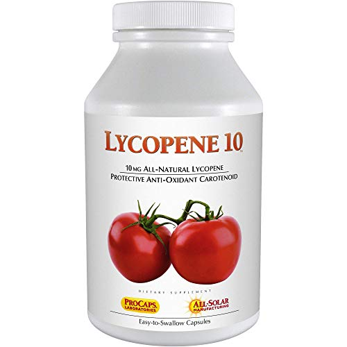 Andrew Lessman Lycopene 10 mg - 60 Softgels –Protective Anti-oxidant Carotenoid. Helps Protect Tissues from Free-Radical Damage, Supports Breast, Prostate, Cardiovascular System. No Additives