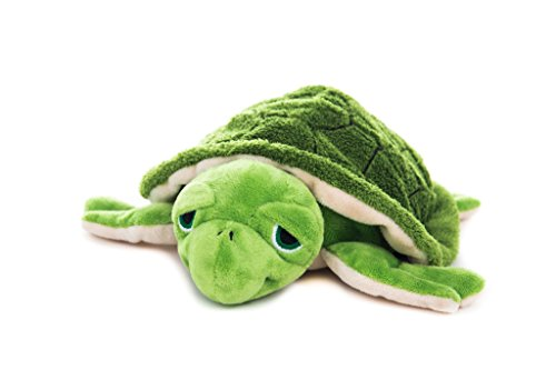 Habibi Plush Premium - 1836 Wasserschildkröte grün - mit herausnehmbarem Körnerkissen - Wärmestofftier zum Erwärmen in der Mikrowelle/Backofen