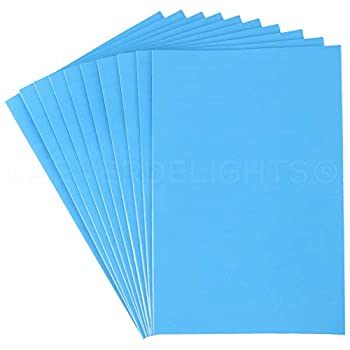 10 Pack - CleverDelights 8  x 12  Foam Sheets - Blue - Large Self Adhesive Craft Sheets