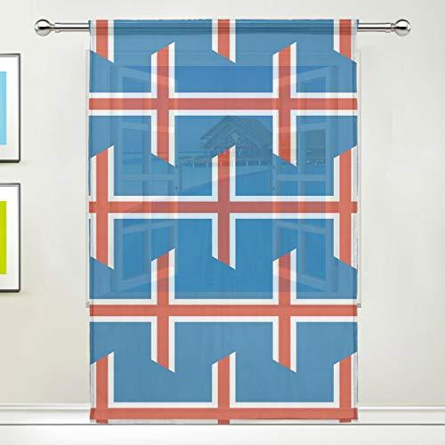 SD3DPrint - Cortina Gasa Ventana Bandera Islandia