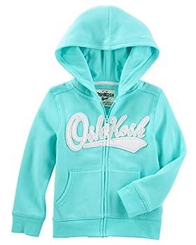 OshKosh B Gosh girls Full Zip Logo Hoodie Hooded Sweatshirt Teal 4T US