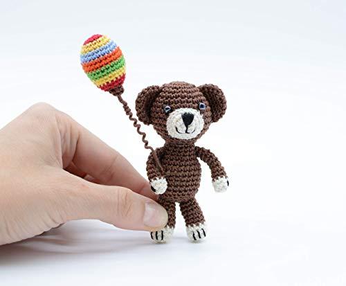 Teddy mit Ballon, Kinderspielzeug, brauner kleiner Bär, Geburtstagsgeschenk