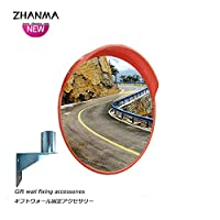 カーブミラー 車庫鏡 凸面鏡ラウンド交通道路の交差倉庫盲点安全ミラー45センチメートル60センチメートル80センチメートル100センチメートル、取付金具送ります huhuan 1-23 (Size : 800mm)