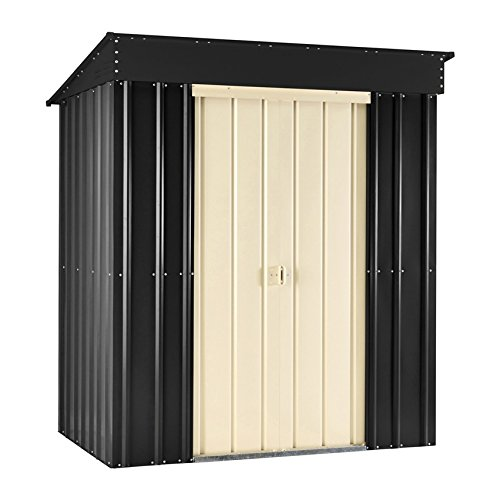 Lotus by Globel 6 x 3 ft Pent Slate Shed - Grey