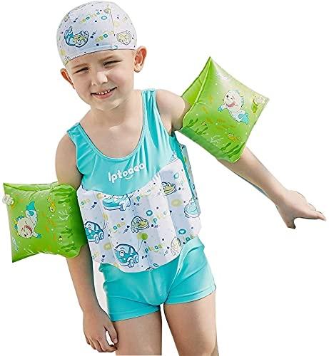 Traje de baño de Moda Traje de Buceo para niños, 4 Conjuntos de Traje de baño de Traje de baño para niños, UPF50 + Traje de protección Solar Traje de baño (Size : 120CM)