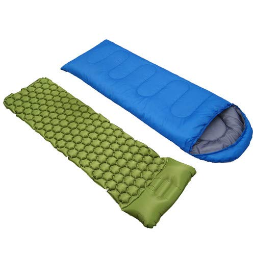 EyPiNS Sleeping Bag Single 4 Season Waterproof Suit Case Camping Hiking Outdoor Sleeping Air Pad Envelope