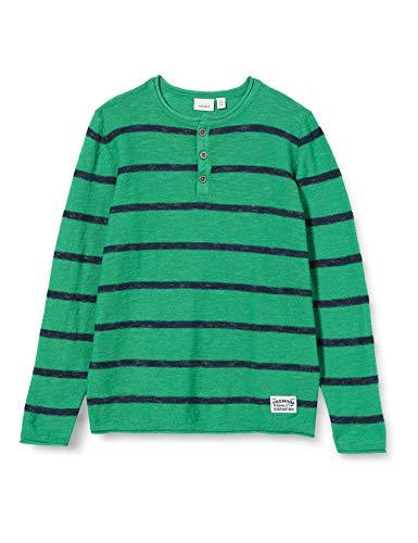 NAME IT Jungen NKMBOOST LS Knit Pullover, Mehrfarbig (Leprechaun), 116