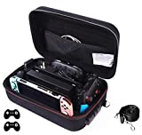 Locking Carrying Case for Nintendo Switch Protective Hardshell Messenger Bag for Console, 2 Pro Controller, Dock, AC Adapter Cable & Accessories