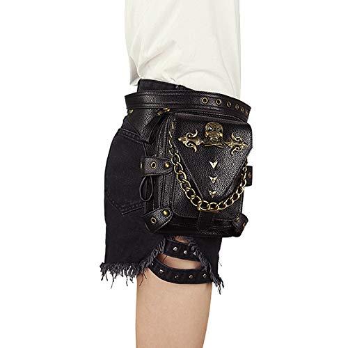 Dlovey Steampunk Bags Gothic Messenger Handbag Shoulder Bag Vintage Fashion Womens Retro Rock Waist Pack Small Leg Bag