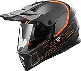 LS2- Casco para moto Mx436Pioneer Element, color negro titanio mate, XXL