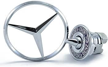 Mercedes Benz Hood Star Genuine Emblem W124 W210 E-Class W202 W203 C Class W204 C Class W220 S Class 1994-2007