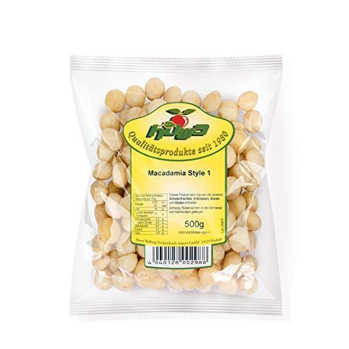 Howa Premium Macadamianüsse ungesalzen und naturbelassen – Macadamianuss ganze Nüsse – Ideal zum Kochen, Backen oder als gesunder Snack – mit zart-buttrigem Geschmack – 500 g