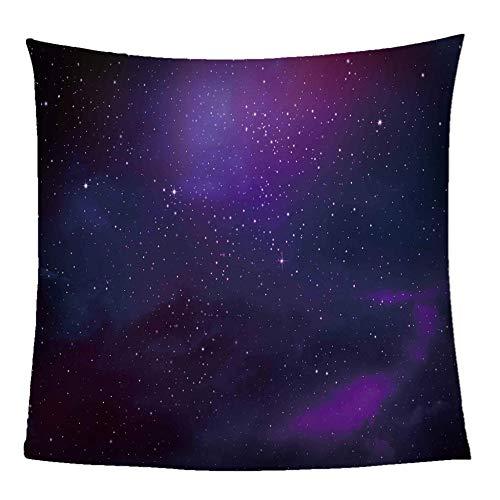 GFDFEYGF Flanell Decke Kuscheldecke 3D Lila Sternenhimmel Drucken Decken Wolldecke Lauschig Weich Warm Microfaser Gemütlich Langlebig Decke für Sofa und Bett130x150cm