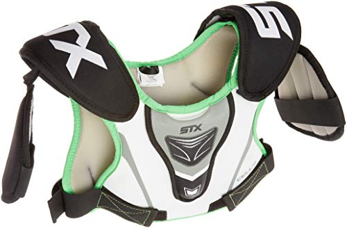 STX Lacrosse Cell 100 Youth Boy's Lacrosse Shoulder Pad, Xsmall , white