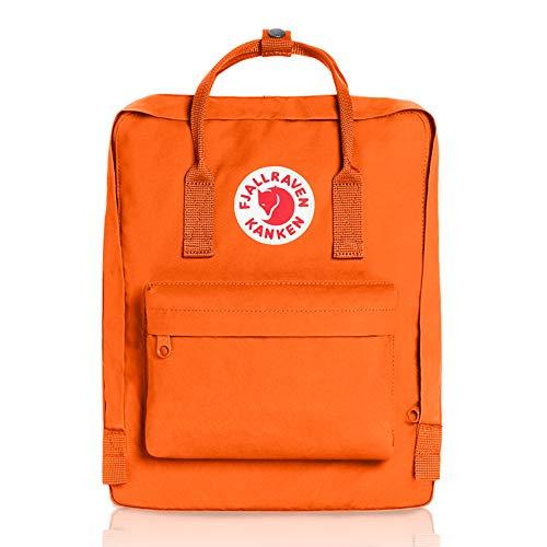 Fjällräven kånken mochila color naranja oscuro, tamaño 38 x 27 x 13...