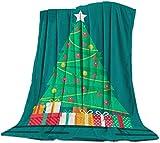 Yaxinduobao Ultra Soft Flannel Fleece Bed Manta Merry Christmas Ornaments Throw Manta All Season Warm Fuzzy Light Weight Cozy Plush Mantas for Living Room/Bedroom