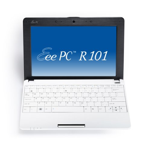 Asus Eee PC R101 25,7 cm (10,1 Zoll) Netbook (Intel Atom N450, 1.6GHz, 1GB RAM, 160GB HDD, Intel GMA 3150, Win XP Home) weiß