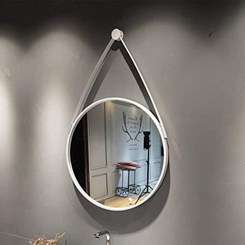 QTMHT Cosmetische Spiegel Wandgemonteerde Spiegels Rond Frame Thuis Badkamer Glas Wandkast Spiegel met touw 40cm