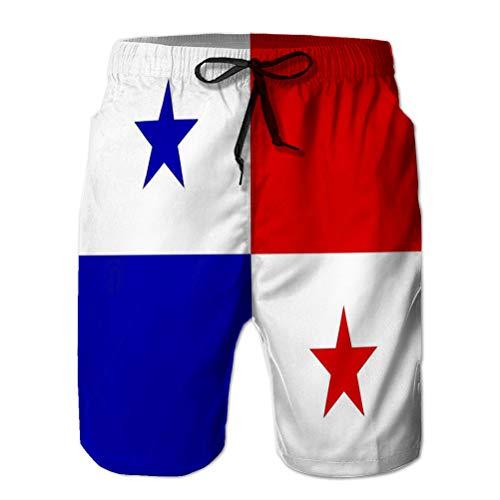 Boardshorts de Verano, Shorts para Hombre con Bandera de Bolsillo Panama Wild Elements