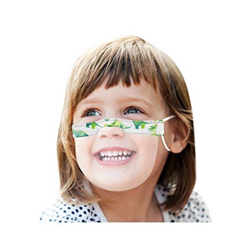 PPangUDing Kinder Transparent Mundschutz Waschbar Baumwolle mit Motiv Elegant Wiederverwendbar Atmungsaktive Staubdicht Multifunktional Halstuch Bandana Schlauchschal