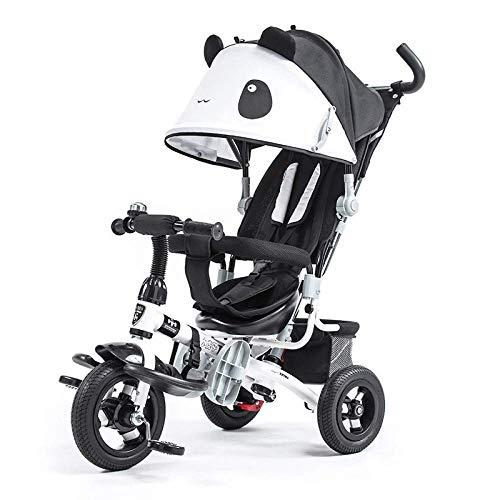 GJJSZ Triciclo para niños Triciclo 3 en 1 Cinturón de Seguridad de 3 Puntos 10 Meses a 5 años Cochecito de bebé Triciclos para niños Plegables Desmontables y Ajustables con asa para Padres,Rojo
