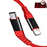 IceFrog Cable USB C a Phone Cargador [2Pack 1.5M], Tipo C a Phone Adaptador de Nylon, Carga Rápida para Phone X/XS/XS MAX/XR, Phone 8/8 Plus, Pad Pro 10.5, Pad Pro 12.9, Pad mini5, Pad Air