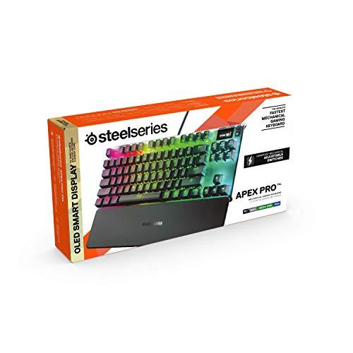 【国内正規品】SteelSeries日本語配列テンキーレスゲーミングキーボードApexProTKLJPOmniPointスイッチ有機ELディスプレイ搭載64737