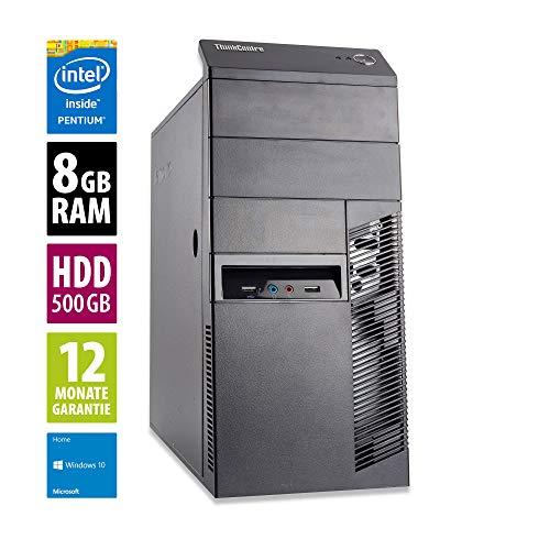 Lenovo ThinkCentre M83 MT   Office PC   Computer   Intel Pentium G3260 @ 3,3 GHz   8GB RAM   500GB HDD   Windows 10 Home (Zertifiziert und Generalüberholt)