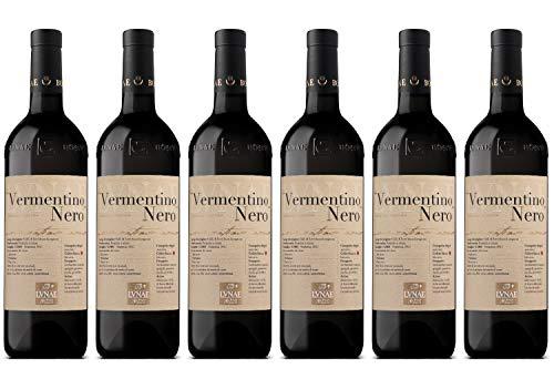 CANTINE LUNAE BOSONI Vino Rosso VERMENTINO NERO bott 75 CL - IMBALLO DA 6 BOTTIGLIE DA 75 CL
