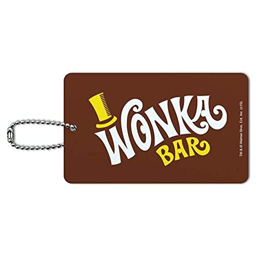 Willy Wonka Wonka Bar Logo etiqueta de identificación de equipaje