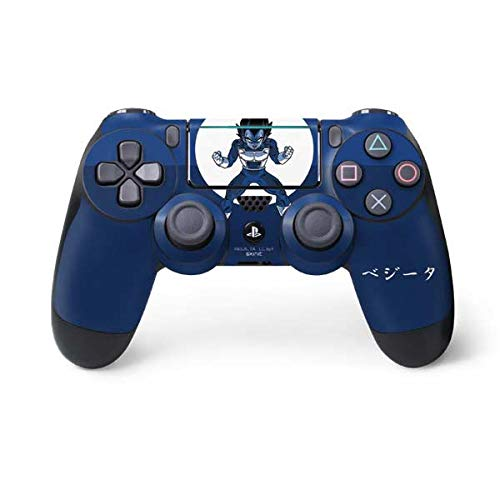 Skinit Decal Gaming Skin for PS4 Pro/Slim Controller - Officially Licensed Dragon Ball Z Vegeta Monochrome Design