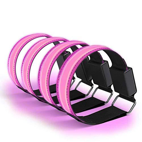 Pulsera LED recargable, 1 unidad de pulsera luminosa, USB, banda reflectante, banda LED para niños, bandas reflectantes, pulsera reflectora, pulsera para correr, con banda reflectante para correr