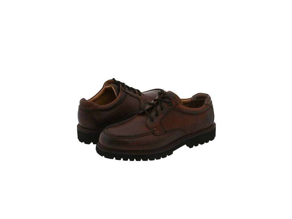 Dockers Glacier (Dark Tan Leather) Men's Lace Up Moc Toe Shoes