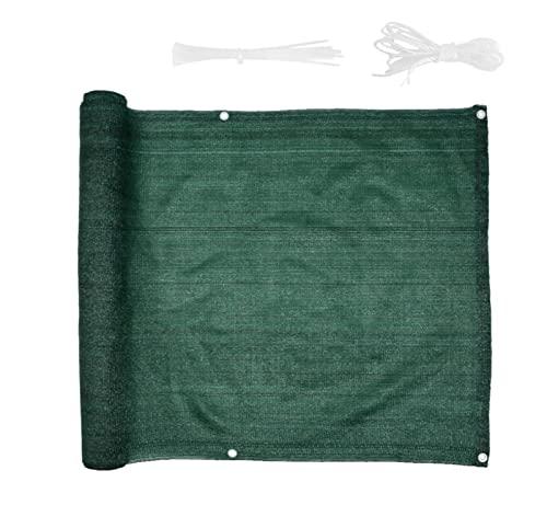 HMBJFBD Pantalla de privacidad de 3 pies x16.4 pies for balcón jardín Cubierta de Cerca Vista de Cubierta Shade Patio Toldo Tolla de Valla Sombra (Color : Green)
