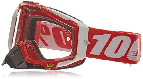 100% RACECRAFT Brille Fire - klar Linse, Rot , Größe One Size