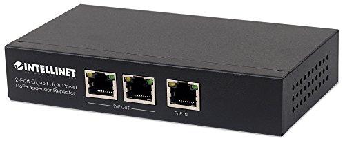 intellinet 561266 2-Port Gigabit High-Power PoE+ Extender, 2 PSE-Ports Metall Schwarz