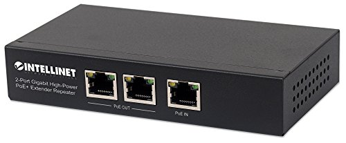 intellinet 561266 2-Port Gigabit High-Power PoE+ Extender, 2 PSE-Ports Metall Schwarz