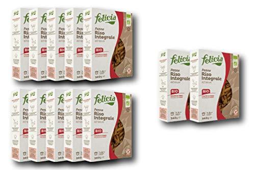【お得な12個セット】玄米のグルテンフリーパスタ (ペンネ) Gluten Free Brown rice pasta (penne)
