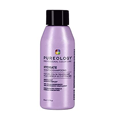Pureology Hydrate Moisturizing Shampoo | For Medium to Thick Dry, Color Treated Hair |Sulfate-Free | Vegan | 8.5 oz.