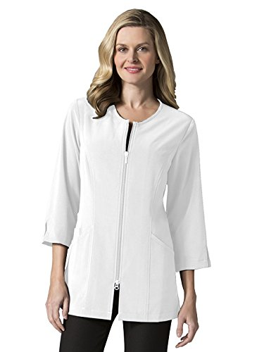 Smart by Maevn Ladies 3/4 Sleeve Lab Jacket(White, Medium)