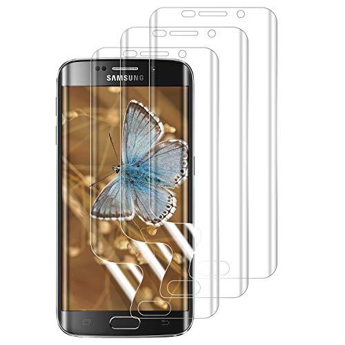 PUUDUU Protector de Pantalla para Samsung Galaxy S7 Edge, [3 Pack] Cristal Templado para Samsung Galaxy S7 Edge, Vidrio Templado, Sin Burbujas, Anti-Rasguños, HD Transparente - TPU