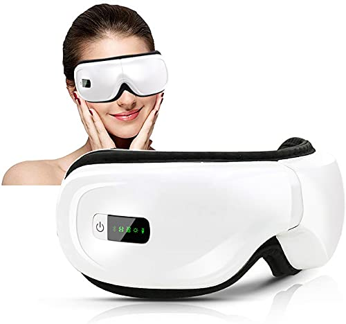 Masajeador de Ojos, Masajeador Electrónico Plegable Recargable con Compresión del Calor y Bluetooth Música para Ojo Seco Relajarse Visión Ojo Oscuro Círculos Estrés Alivio