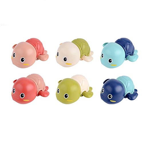 NIWWIN Nueva Tortuga Animal Linda de la Historieta Juguete clásico del Agua del bebé Tortuga de natación Infantil Cadena enrollada Mecánica Niños Juguetes de baño de Playa Color Color Aleatorio