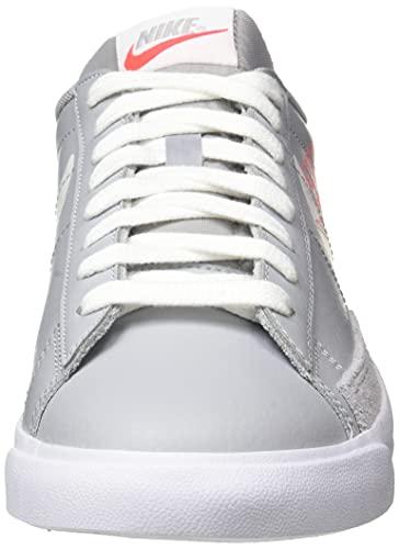 Nike Blazer Low Mr, Zapatillas de bsquetbol Hombre, Wolf Grey Sail Bright Crimson White, 41 EU
